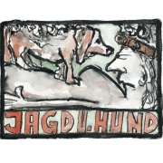"""Jagd u. Hund (aus der Serie """"2 in a box""""), 2017, Fineartprint auf Hahnemühle Photo Rag Bright White 310 g/m, 40 x 50 cm, Auflage: 20 Exemplare"""