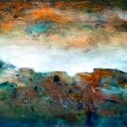 o.T., Öl, Pigment auf Leinwand, 90 x 150 cm, 2019