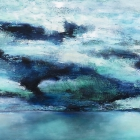 o.T., Öl, Pigment auf Leinwand, 90 x 140 cm, 2021