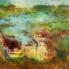 o.T., Öl, Pigment auf Leinwand, 90 x 140 cm, 2020