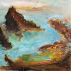 o.T., Öl, Pigment auf Leinwand, 110 x 110 cm, 2020