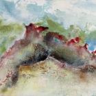 o.T., Öl, Pigment auf Leinwand, 110 x 110 cm, 2019