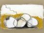 Bleistift, Acryl auf Pappe