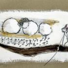 o.T.; Acryl, Bleistift auf Pappe; 20 x 30 cm; 2007