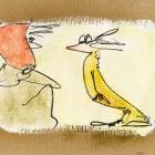 Rotkäppchen, Acryl, Bleistift auf Pappe; 20 x 30 cm; 2007b