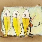 Stösschenparade, Acryl, Bleistift auf Pappe; 20 x 30 cm; 2007