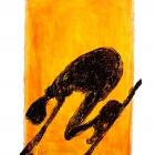 Sifahrer, Monotypie (Asphaltlack), 50 x 70 cm, 2009
