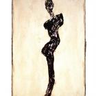 Torso, Monotypie (Asphaltlack), 50 x 70 cm, 2009