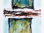 Öl, Acryl, Kreide auf Papier
