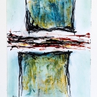 o:T.; Öl, Pigment auf Papier; 70 x 50 cm; 2013