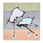 Rädervögel; Öl, Pigment auf Karton; 50 x 50 cm; 2011