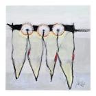 Verschwörung der Dentisten; Öl, Pigment auf Karton; 50 x 50 cm; 2011