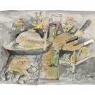 """Protokoll """"Xmas essen"""", Tintenstrahldrucker auf Papier, 40 x 50 cm, 2014 Auflage: 20 Exemplare"""