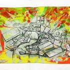 """Protokoll """"Kompiwahn"""", Tintenstrahldrucker auf Papier, 40 x 50 cm, 2015 Auflage: 20 Exemplare"""