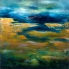 o.T., Öl, Pigment auf Leinwand, 110 x x 110 cm, 2016