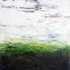 o.T. (Horizonte), Öl, Pigment auf Aludibond, 60 x 80 cm, 2011