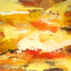 o:T.; Öl, Pigment auf Leinwand;