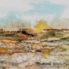 o.T., Öl, Pigment auf Leinwand, 90 x 130 cm, 2017