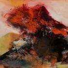 o.T., Öl, Pigment auf Leinwand, 70 x 100 cm, 2017