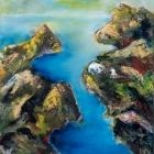 o.T.; Öl, Pigment auf Leinwand; 115x 93 cm; 20