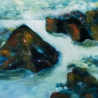 o.T.; Öl, Pigment auf Leinwand; 70 x 50 cm; 2016