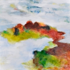 o.T.; Öl, Pigment auf Leinwand; 120 x 120 cm; 2014