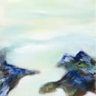 """o.T.; (Aus der Serie """"Mündungsgebiete""""), Öl, Pigment auf Leinwand; 120 x 70 cm; 2013"""