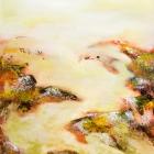 o.T.; Öl, Pigment auf Leinwand; 120 x 70 cm; 2015