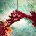 o.T. (Dipyichon), Öl, Pigment auf Leinwand,115 x 180 cm,  2018