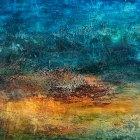 o.T., Öl, Pigment auf Leinwand, 90 x 150 cm,