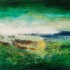 o.T., Öl, Pigment auf Leinwand, 90 x 130 cm, 2004