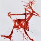 WalkerinnIn, Chinatusche auf Papier, 40 x 30 cm, 2011