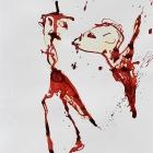o.T.,Chinatusche auf Papier, 40 x 30 cm, 20116