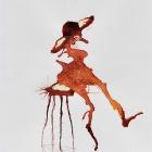 Tresenhockerin, Chinatusche auf Papier, 40 x 30 cm, 2011