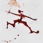 Regentänzer, Chinatusche auf Papier, 40 x 30 cm, 2011
