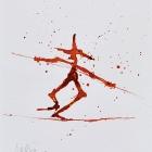 Hochseilfuchs, Chinatusche auf Papier, 40 x 30 cm, 2011