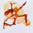 Hahnenträger,Chinatusche auf Papier, 40 x 30 cm, 2011