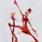 Metermaids Tanz, Chinatusche auf Papier, 40 x 30 cm, 2011